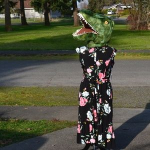 NWT Old Navy XXL 20 Floral Dress with Belt